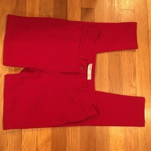 Red straight leg jeggings